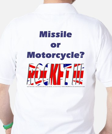 Missle or Motorcycle? Golf Shirt