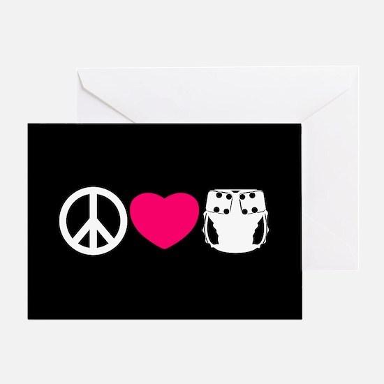 Peace, Love, Cloth Greeting Card