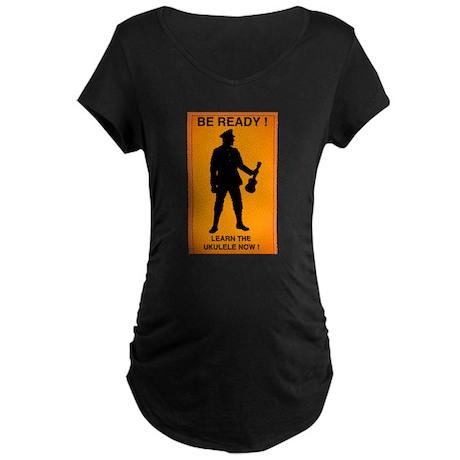 Learn the Ukulele now Maternity Dark T-Shirt