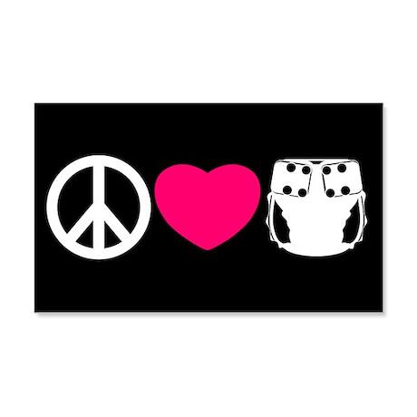 Peace, Love, Cloth 22x14 Wall Peel