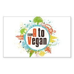 Vegan World Sticker (Rectangle)