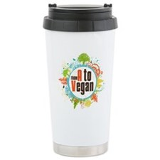 Vegan World Stainless Steel Travel Mug