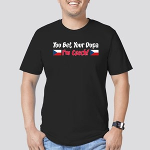 You Bet Your Dupa I'm Czech Men's Fitted T-Shirt (