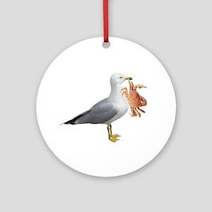 Seagull & Crab Ornament (Round)