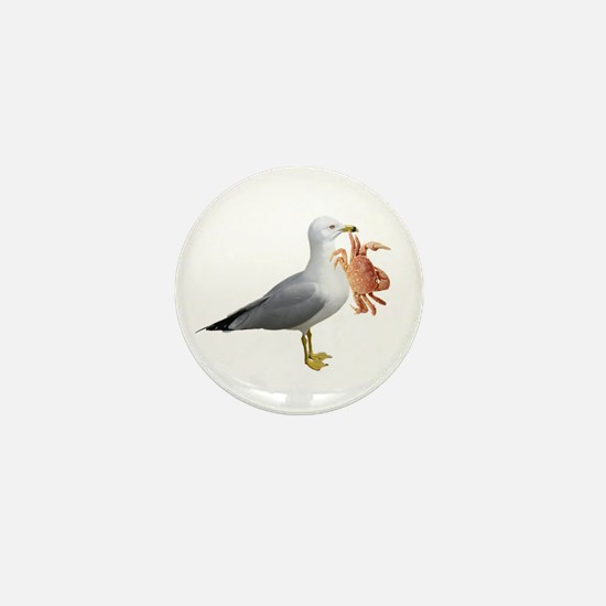 Seagull & Crab Mini Button