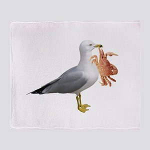 Seagull & Crab Throw Blanket