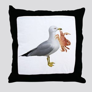Seagull & Crab Throw Pillow
