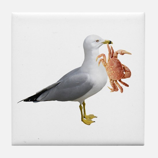 Seagull & Crab Tile Coaster