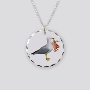 Seagull & Crab Necklace Circle Charm