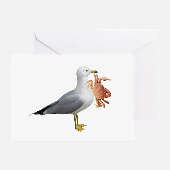 Seagull & Crab Greeting Card