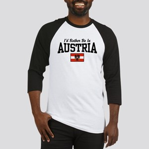I'd Rather Be In Austria Baseball Jersey