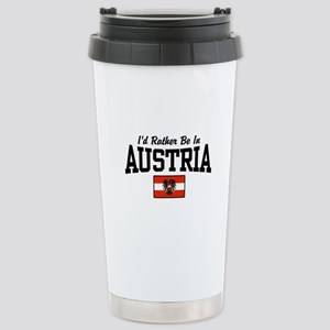I'd Rather Be In Austria Stainless Steel Travel Mu