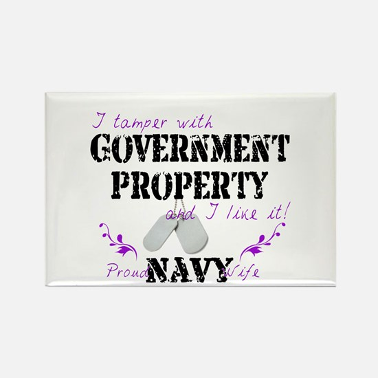 Tamper w Government Property N Wife Rectangle Magn