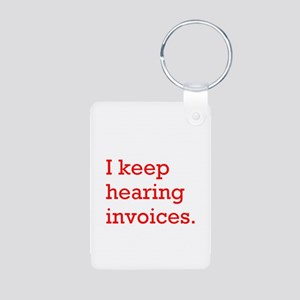 Hearing Invoices Aluminum Photo Keychain