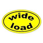 Wide Load Oval Sticker