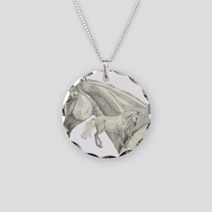 Silver Galtee Necklace Circle Charm
