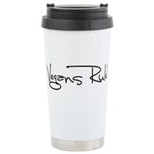 Vegans Rule! Stainless Steel Travel Mug