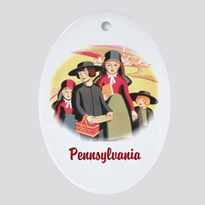 Pennyslvania Amish Ornament (Oval)