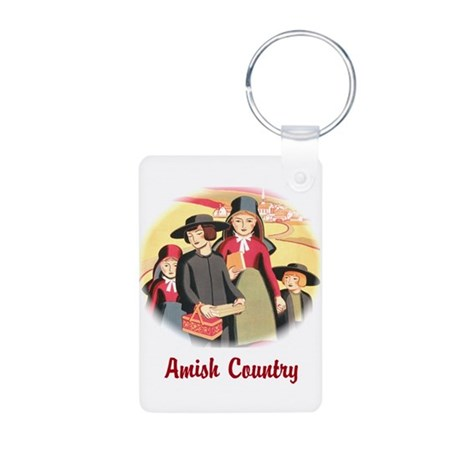 Amish Country Aluminum Photo Keychain