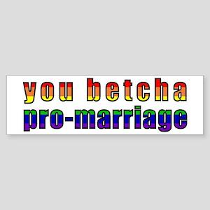 You Betcha - Sticker (Bumper)