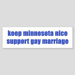 Keep MN Nice - Sticker (Bumper)