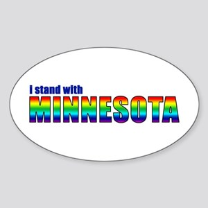 Stand With MN - Sticker (Oval)