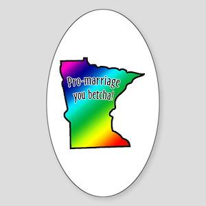 Minnesota Rainbow - Sticker (Oval)