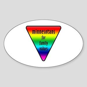 Minnesota Family Values Sticker (Oval)