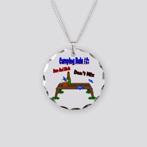 Camping Rule #2 Necklace Circle Charm