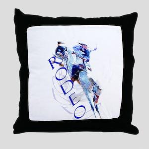 TheSaddle Bronc Throw Pillow
