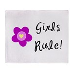 Girls Rule Throw Blanket