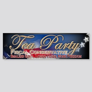 Tea Party Fiscal Conservative - Sticker (Bumper)