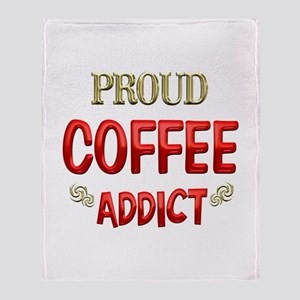 Coffee Addict Throw Blanket