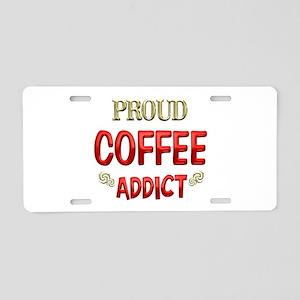 Coffee Addict Aluminum License Plate