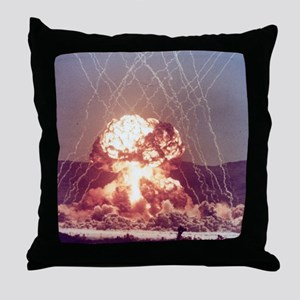 Met Nuclear Test Throw Pillow