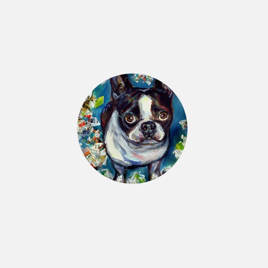 Boston Terrier shredder misch Mini Button