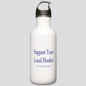 Support Your Local Hooker Stainless Water Bottle 1