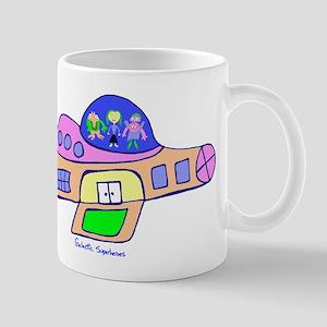 Superheroes in Ship Mug