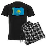Kazakhstan Flag Men's Dark Pajamas