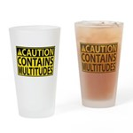 Caution: Contains Multitudes Drinking Glass