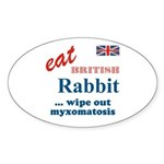 The Bunny Oval Sticker