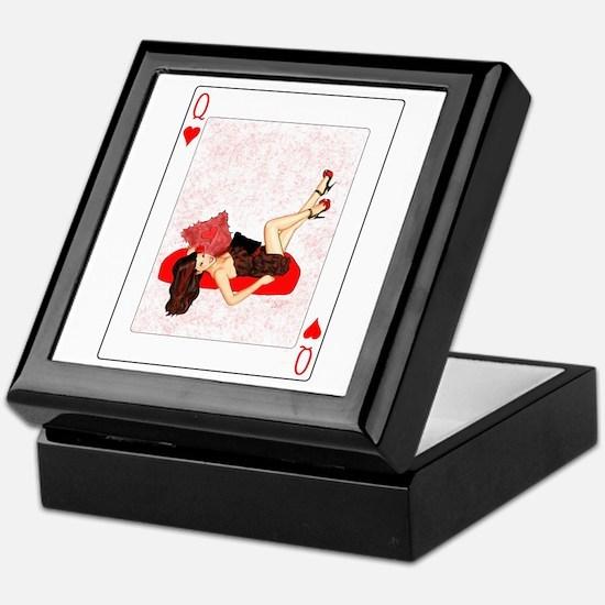 Queen of Hearts Pin-up Keepsake Box