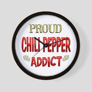 Chili Pepper Addict Wall Clock