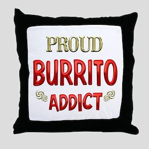 Burrito Addict Throw Pillow