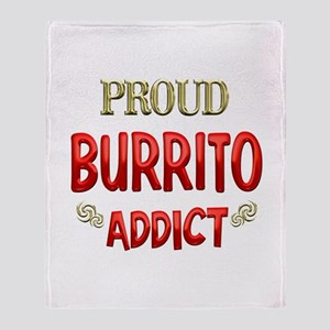 Burrito Addict Throw Blanket