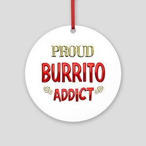 Burrito Addict Ornament (Round)