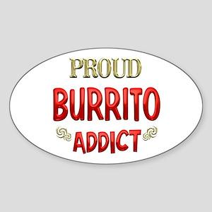 Burrito Addict Sticker (Oval)