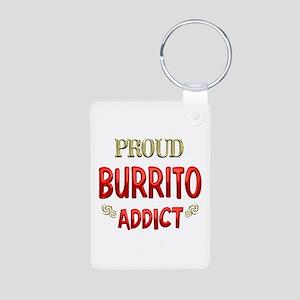 Burrito Addict Aluminum Photo Keychain