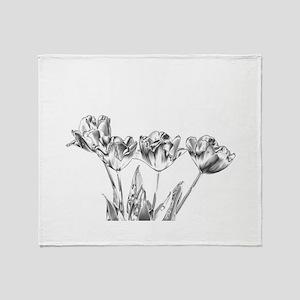 Chrome Tulip Throw Blanket