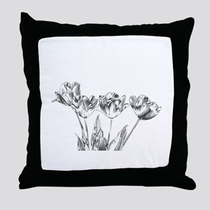 Chrome Tulip Throw Pillow